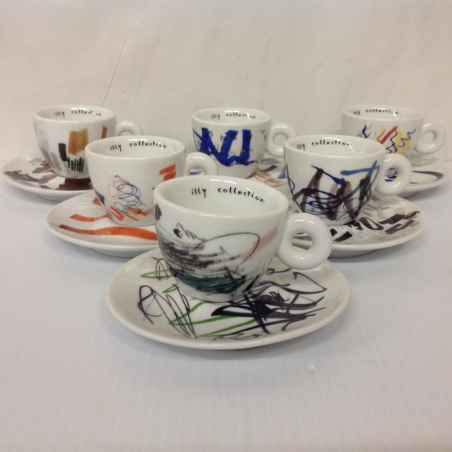 Padraig Timoney Illy Espresso Cups - Set of 6 - Image 3 of 6