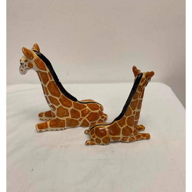 Italian Terra-Cotta Giraffe Figurines - a Pair For Sale - Image 4 of 6