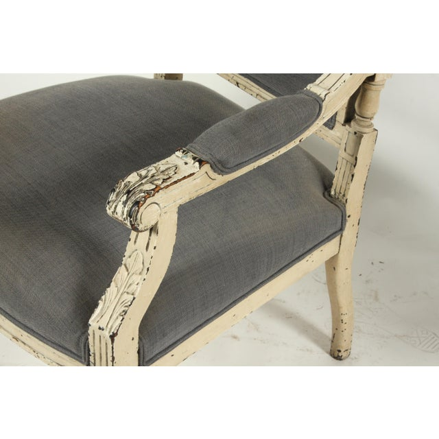 Wood Late 19th-C. French Louis XVI-Style Armchairs, Pair For Sale - Image 7 of 13