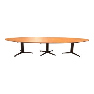 Vintage Edward Wormley Walnut Conference Table For Sale