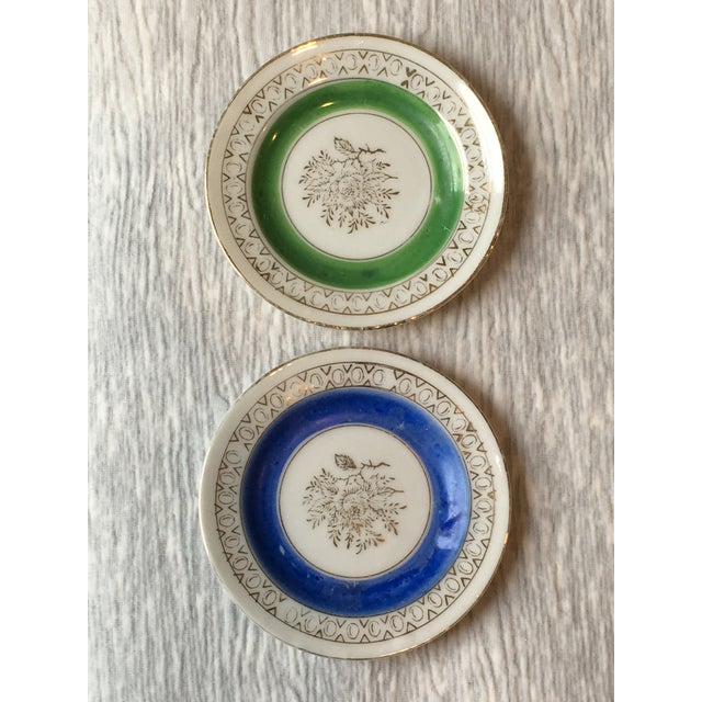 Mid 20th Century Mid 20th Century Antique Japanese Porcelain Mini Plates - a Pair For Sale - Image 5 of 5