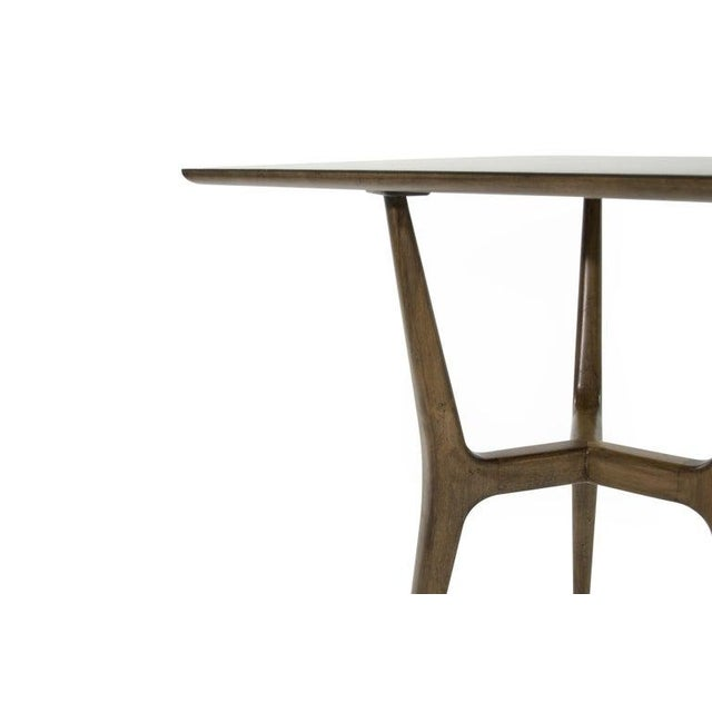 Brown Mid-Century Modern Asymmetrical Walnut Desk For Sale - Image 8 of 13