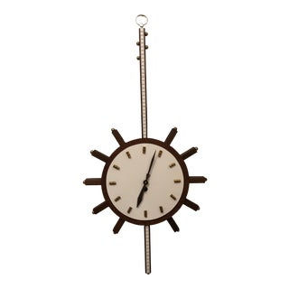 Mid Century Modern Duverdrey & Bloquel Banjo Clock Made in France For Sale