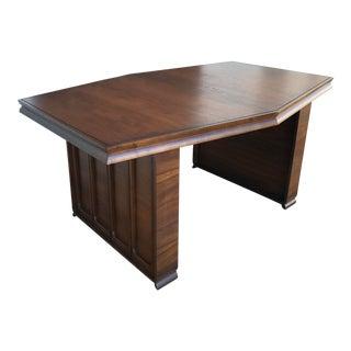 Mid-Century Modern Table With Raised Panels