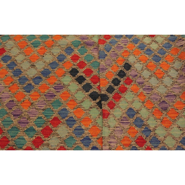Shabby Chic Lani Gray/Blue Hand-Woven Kilim Wool Rug -5'9 X 7'11 For Sale In New York - Image 6 of 8