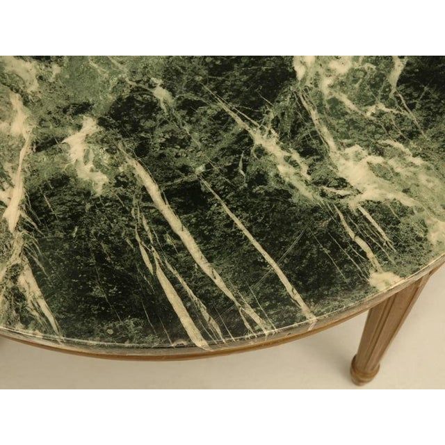 Marble French Louis XVI Style Coffee Table For Sale - Image 7 of 10
