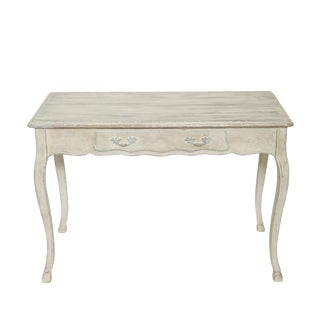 Narrow Painted Italian Writing Table For Sale