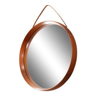 Luxus Teak Mirror by Swedish Designers Uno and Osten Kristiansson - by Luxus at Vittsjö, Sweden-1960s For Sale