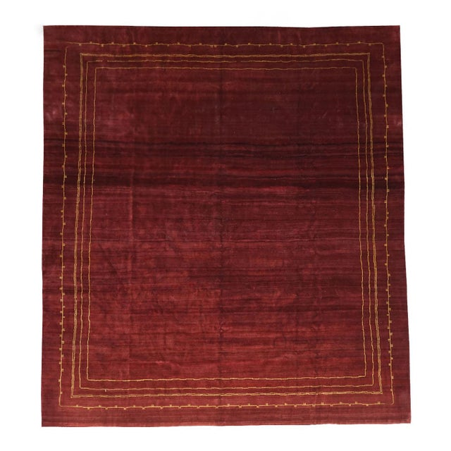 Boccara Exclusive Monochrome Wool Rug, Bordeaux For Sale - Image 6 of 6