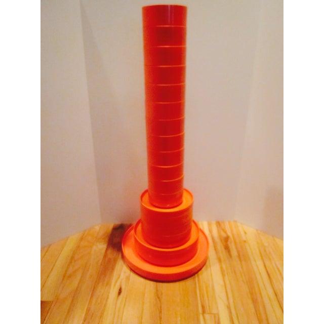 Heller Vignelli Stacking Orange Plate Bowl 30 Pcs - Image 3 of 11