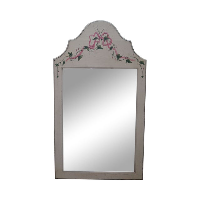 Hand Painted Venetian Andrea Davinci Braun Mirror For Sale