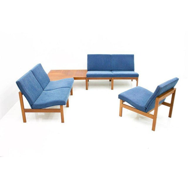 Torben Lind Modular Seating Group With Corner Table France & Son 1965 For Sale - Image 12 of 12
