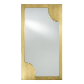 Currey & Co. Modern Brass Foil Finished Wall Mirror For Sale
