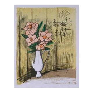 Bernard Buffet-bouquet De Fleurs-mourlot Lithograph For Sale