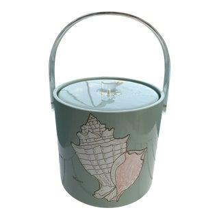Vintage Old Florida Teal Murex Ice Bucket For Sale