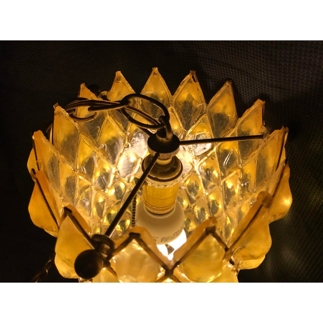 Mid-Century Modern Swag Cylinder Hanging Lamp - Image 5 of 6