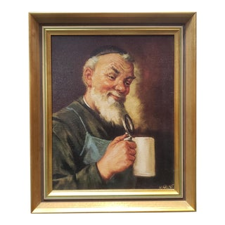 Man With Stein Giclee Print by Heinrich Faust (Mid 20th Century) For Sale
