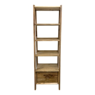 Tropical Salvage Reclaimed Wood Bookcase For Sale