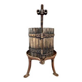 Antique Rustic Wine Press For Sale