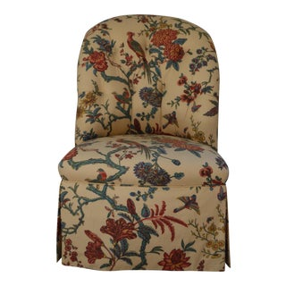 Brunschwig & Fils Fabric Slipper Accent Chair