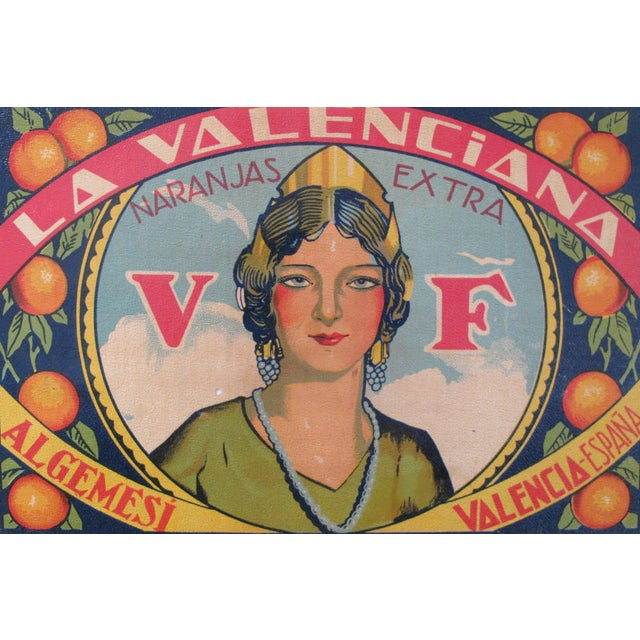 Purchased recently in Spain, this small poster was designed to be placed on the fruit crate as a company label....