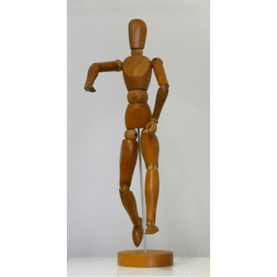 Vintage wooden artists model, with movable joints all in good working order. These are used by artists to learn how to...