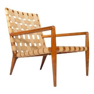 1950s t.h. Robsjohn-Gibbings for Widdicomb Strap Lounge Chair For Sale