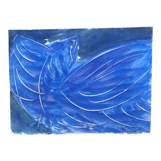"Original Robert Cooke Vintage ""Blue Bird"" Painting"