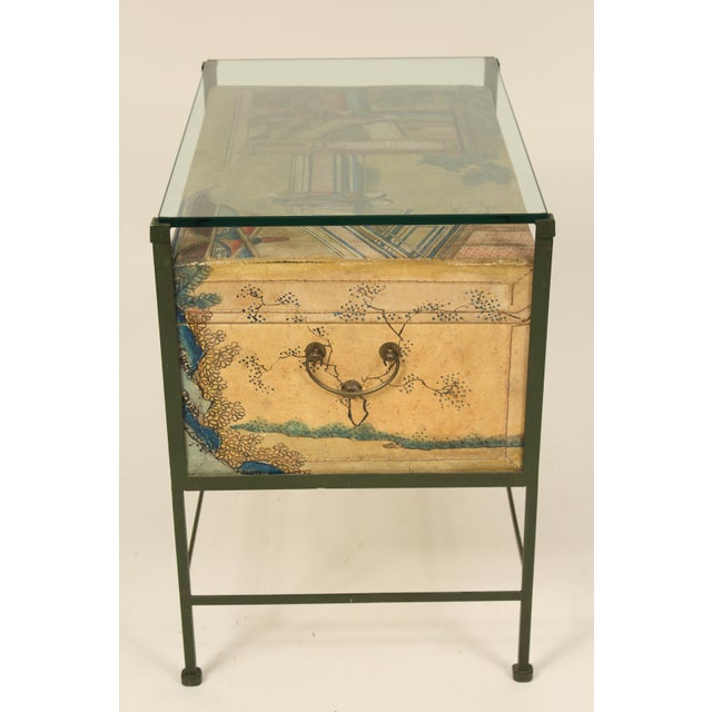 Asian Chinese Polychrome Decorated Pigskin Occasional Table For Sale - Image 3 of 13