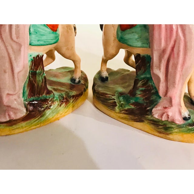 Antique Staffordshire Figurines on Horseback - a Pair For Sale - Image 6 of 8