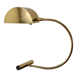 1970s Vintage Koch & Lowy Bauhaus Brass Table Lamp For Sale