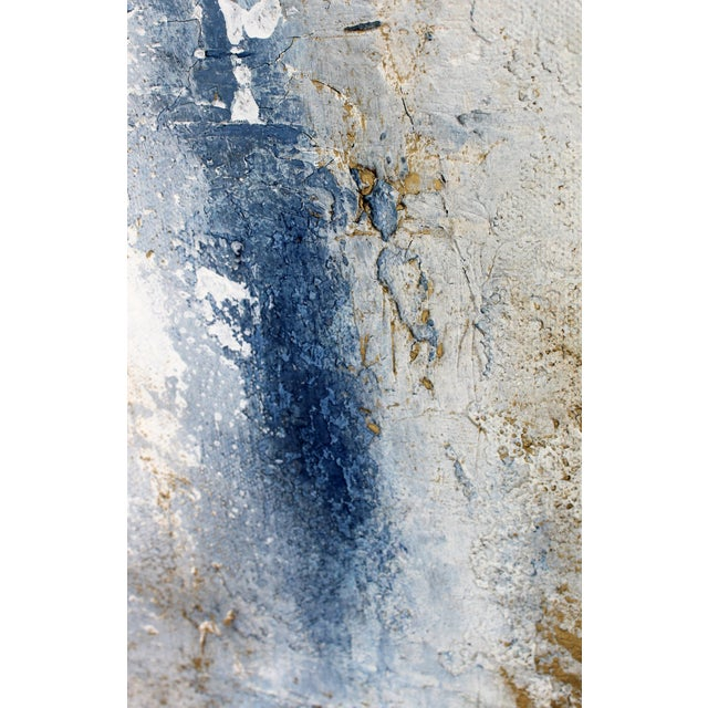 Modern Minimal Large Abstract Neutral Canvas Painting For Sale - Image 4 of 6