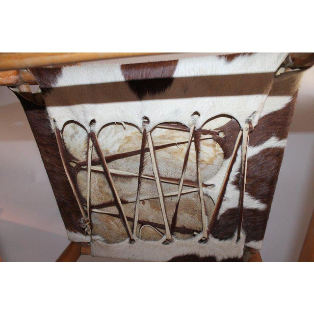 Early 20th Century South West Rocking Chair in Cowhide Seat For Sale - Image 10 of 12