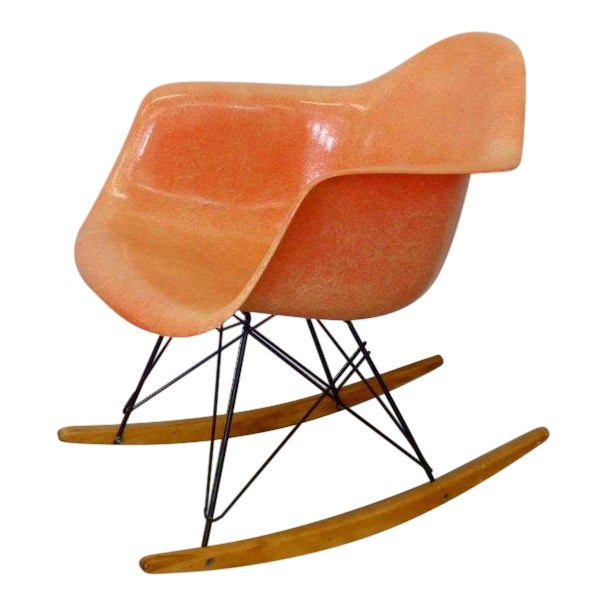 Best Eames Rar Herman Miller Zenith Rope Edge Rocking Chair For Sale