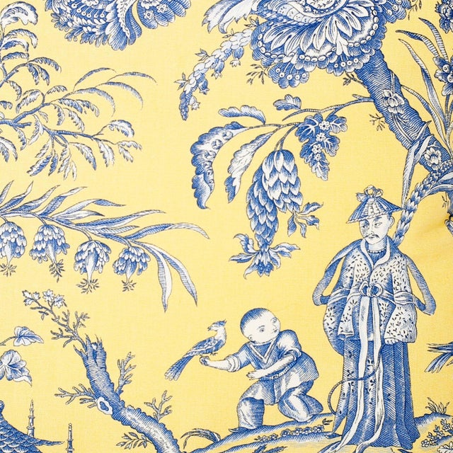 French Toile Style Linen Pillows - A Pair For Sale - Image 4 of 8
