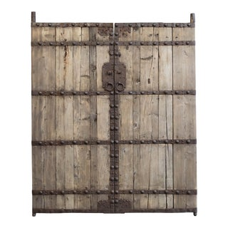 Antique Chinese Pine Doors/Gates - a Pair For Sale