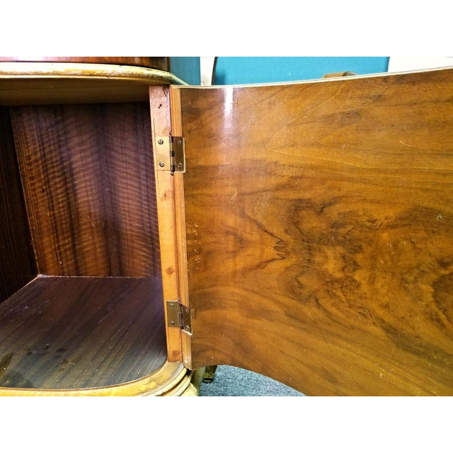 Louis XV Antique Louis XV Marquetry Inlaid Commode Nightstand For Sale - Image 3 of 8
