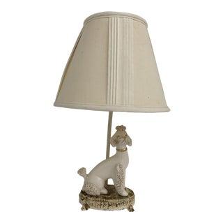 Vintage Porcelain Poodle Lamp For Sale