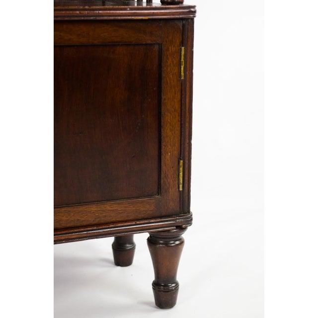 19th Century English Traditional Mahogany 3 Shelf Etagere For Sale - Image 11 of 13