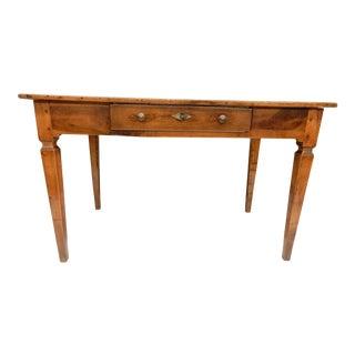 Directoire' Provincial Walnut Farm Table/Desk For Sale