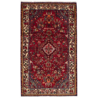 "Touserkan Vintage Persian Rug, 4'7"" x 7'9"" feet"