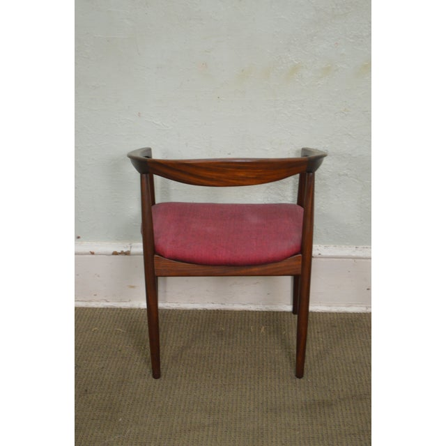 Raymor Danish Modern Vintage Curved Back Arm Chair by Raymor For Sale - Image 4 of 10