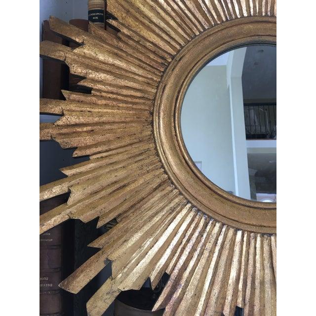 Gilt Wood Sunburst Mirror For Sale - Image 11 of 13