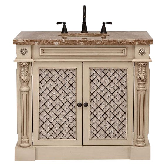 Classico Beige Bath Vanity with Cabinet - Image 1 of 6