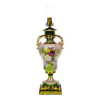 Vintage used victorian table lamps chairish victorian ulrich style porcelain urn table lamp aloadofball Choice Image