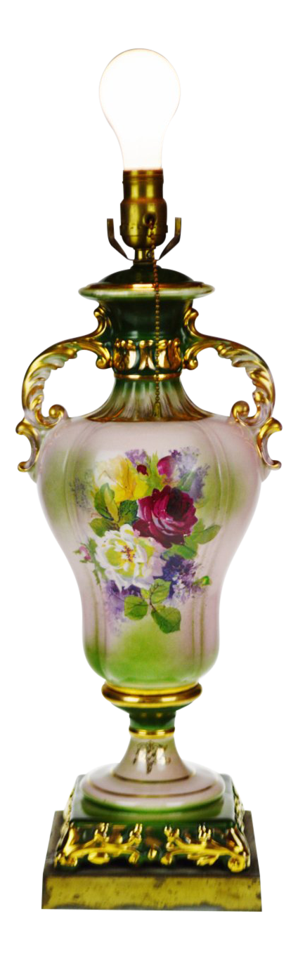 Victorian Ulrich Style Porcelain Urn Table Lamp