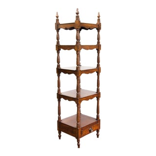 Early 19th Century Faux Painted Five Tier Walnut Stand For Sale