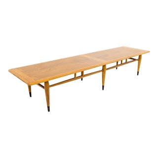 Mid Century Modern Lane Acclaim Extra Long Inlaid Dovetail Coffee Table For Sale