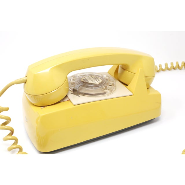 1970s Vintage 1976 Starlite Yellow Rotary Wall Phone For Sale - Image 5 of 12