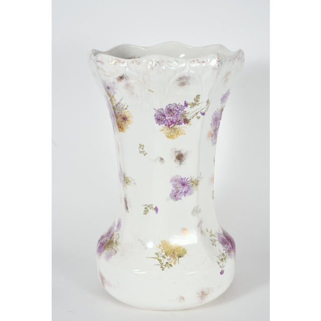 Tall English Porcelain Umbrella Stand / Cane Holder For Sale - Image 9 of 10